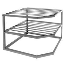2-Tier Corner Shelf Counter and Cabinet Organizer Declutter Garage Home ... - $24.11