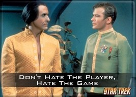 Star Trek: The Original Series Don't Hate the Player Magnet, NEW UNUSED - $3.95
