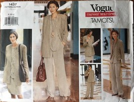 Tamotsu Vogue Sewing Pattern 1437 Jacket Top Skirt Vest Pants Sizes 8-10-12 - $9.99