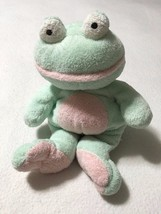 Ty Pluffies Grins The Frog Green Pink White Tylux 2002 Stuffed Animal Pl... - $4.29