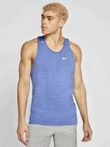 NIKE TechKnit Ultra Running Tank Top Blue Men's Size M *NEW* CJ5427-478 $70 - $37.53