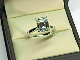 2.00 Ct Emerald Cut Diamond Engagement Ring 14k White Gold Finish 925 Si... - $102.74