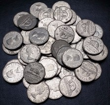 Lot of 49x 1961 Canada 5 Cent Nickels - Great Condition Coins - Great Value - $6.43