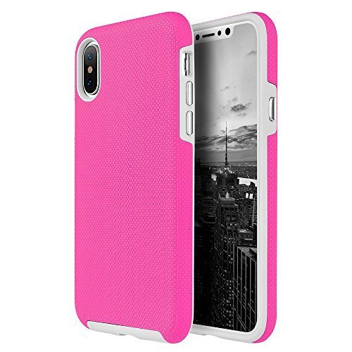 Hybrid Anti Slip Case - Hot Pink for iPhone X