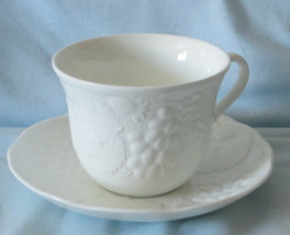 Wedgwood Strawberry & Vine White Cup and Saucer - $16.72
