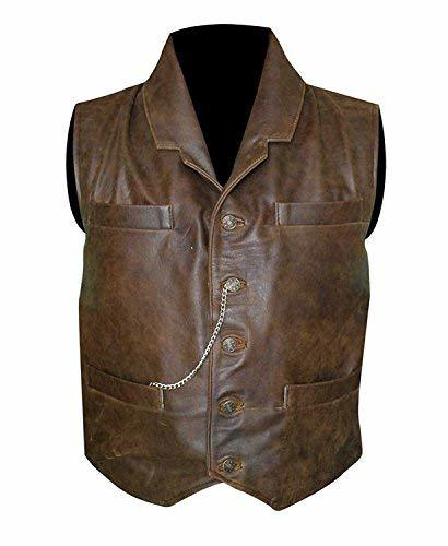 Anson Mount Cullen Bohannon Hell On Wheels Distressed Brown Leather Vest