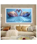 Beauty Swans Lake Shiny Diamond Painting Love  Animal Diamond Painting H... - $11.00+