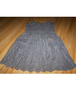 Size XS American Eagle Outfitters Solid Brown Floral Lace Dress Sleevele... - $18.00