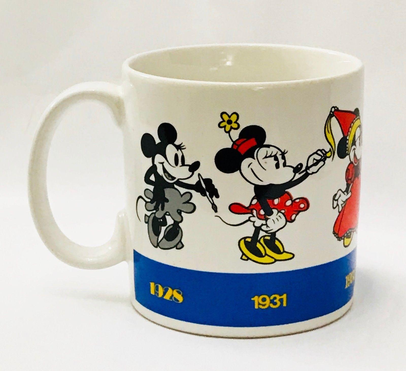 Disney Applause Minnie Draws Minnie Mug Coffee Cup Ceramic 1928 thru 1990 VTG - $14.82