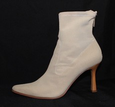 Nine West women's ankle boots r pesto tan fabric synthetic upper size 6.5 M - $23.05