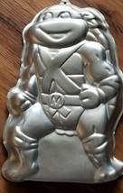 Wilton Cake Pan Teenage Mutant Ninja Turtle Michelangelo Vintage 1989 Aluminum - $19.80