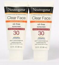 2 Count Neutrogena 3 Oz Clear Face Oil Free Broad Spectrum SPF 30 Sunscreen - $25.99