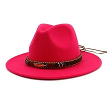 Vim Tree Men Women Ethnic Felt Fedora Hat Wide Brim Panama Hats with Ban... - $15.24