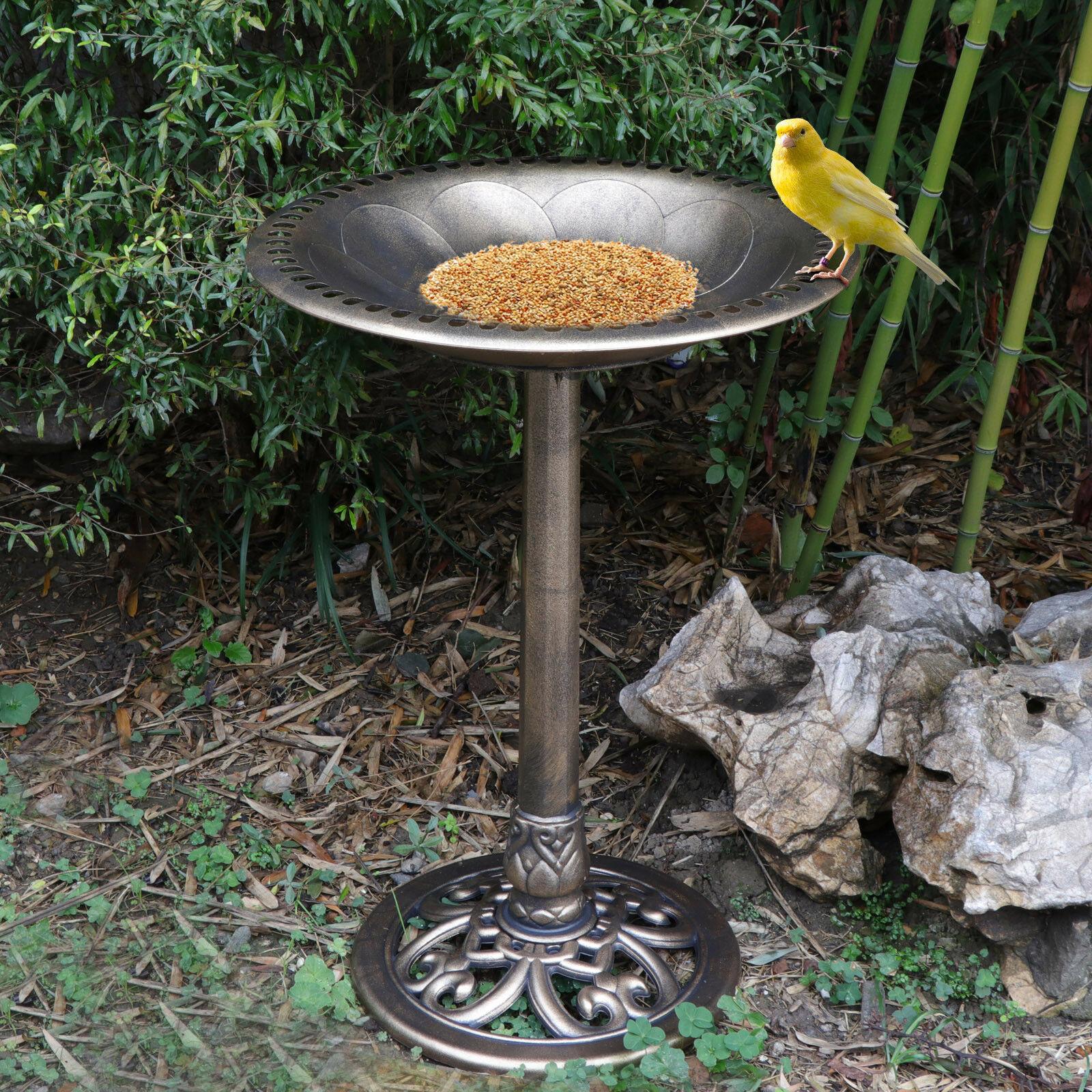 """28"""" Birdbath Height Pedestal Bird Bath Antique Outdoor Garden Decor Vintage"""