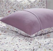 Intelligent Design Abby Metallic Printed and Pintucked Duvet Cover Set Plum Full image 8