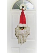 Santa Claus Macramé Door Hanging Decoration  - $25.00