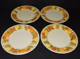 4 Della Robbia Metlox Poppytrail Salad Plates  354228 Vernon Ware 1975 U... - $39.59