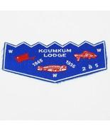 Boy Scout  Kcumkum Lodge 285 OA Flap Patch BSA WWW 50 years - $10.06