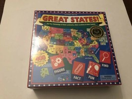 Great States Board Game Geography New  States Games NIB - $13.81
