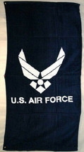 US Air Force Wings Beach Towel 30 x 60 (Cotton Twill) Brand New (Licensed) - $24.88