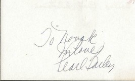 Pearl Bailey Signed 3x5 Index C - $49.49