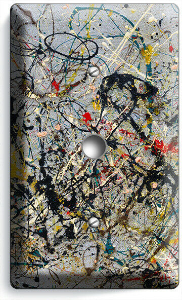 JACKSON POLLOCK INSPIRED ABSTRACT LIGHT DIMMER CABLE WALL PLATES ROOM HOM DECOR