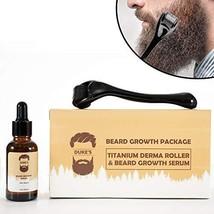 Derma Roller for Beard Growth + Beard Growth Serum - Stimulate Beard and Hair Gr