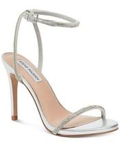 Steve Madden Women Slingback Strappy Sandals Festive Size US 7.5M Silver - $18.46