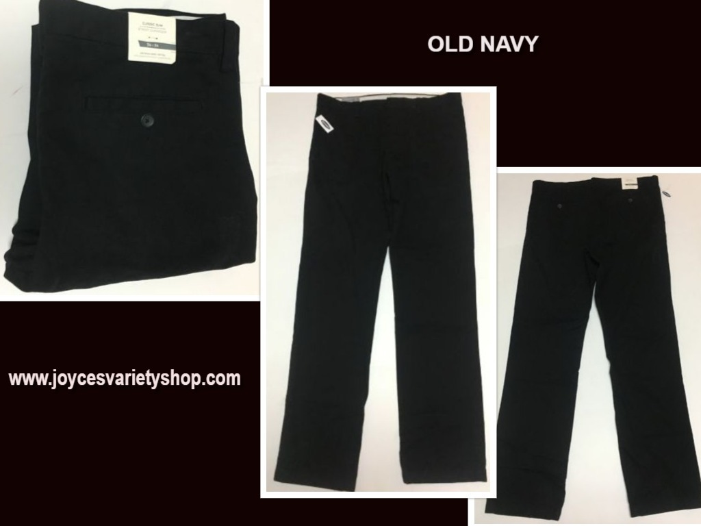 Old navy classic 34 x 34 black pants web collage