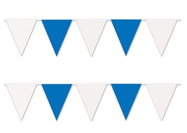 30 ft heavy duty Outdoor All Weather blue white Pennant Banner flags dec... - $9.89
