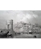 ITALY View of Ancona - 1864 Fine Quality Print Engraving - $35.96