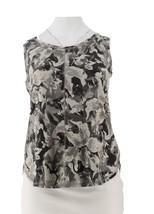 Isaac Mizrahi SOHO Floral Camo Print Curved Hem Tank Top Grey 1X NEW A29... - $21.76