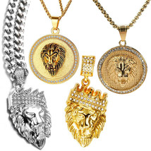 Leo the Lion Zodiac Sign Solid .925 Sterling Silver Animal Pendant Luck Necklace - $9.99