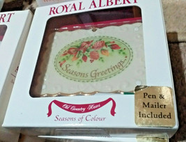 Royal Albert Victorian Bone China Season Greet Christmas Postcard Orname... - $0.98