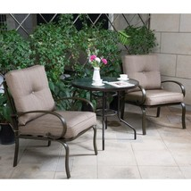 3 PC Bistro Set Outdoor Garden Patio Furniture Dining Set Chairs w/ Glas... - $229.98+