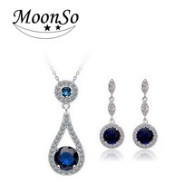 Moonso Multicolor Moonso Two Gifts Real Sterling Silver 925 zircon drop ... - $14.87