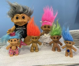 Lot Of 6 Troll Dolls Most Are By Russ,1 From Horseshoe See Pics - $19.79