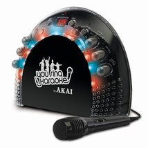 Akai Portable CD+G Karaoke System with Light Effects - $93.55