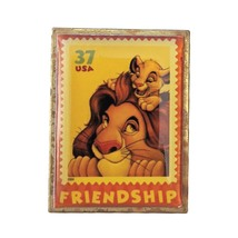 Lion King Disney Lapel Pin: Simba + Mufasa Friendship Stamp - $19.90