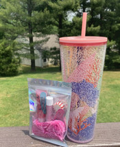 Starbucks Coral Reef Bubble Cold Cup 24 Oz Tumbler Pink  Summer 2021 - $49.49