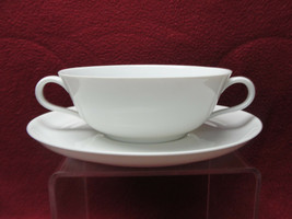 ROSENTHAL China - HELENA Pattern (all white) - CREAM SOUP BOWL & SAUCER - $29.95