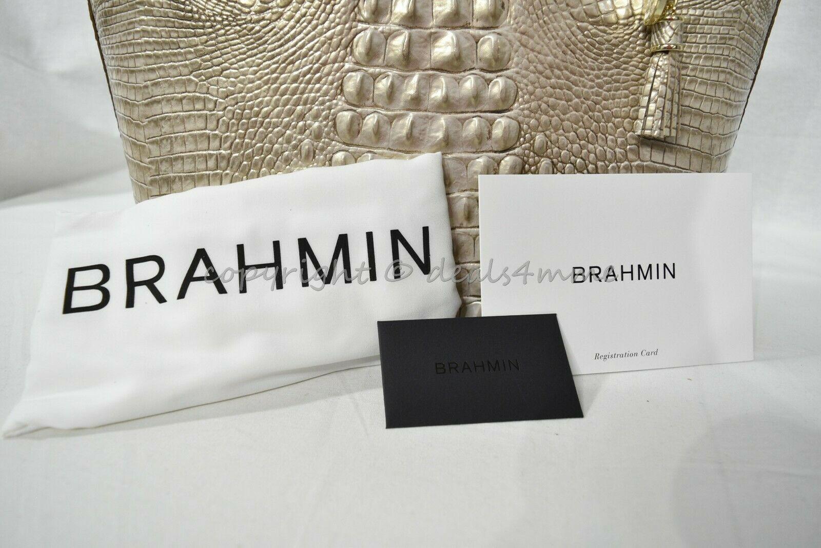 NWT Brahmin Medium Asher Leather Tote/Shoulder Bag Sugar Cane Melbourne image 9