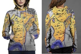 Ardesh Map Updated HOODIE ZIPPER FULLPRINT WOMEN - $60.99+