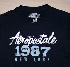 AEROPOSTALE / NEW YORK USA / AMERICA NYC / EST 1987 / BLACK T-SHIRT SIZE M - $14.99