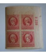 CUBA 1926 Stamp, Scott #281  Patriots Series  2c (brt rose) Block of 4  - $12.00