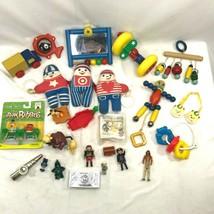 Lot of Vintage Toys Johnson Johnson PlaySkool Bow Biters Burger King Belle - $64.04