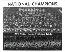 1966 Notre Dame Team 8X10 Photo Fighting Irish Picture Ncaa Football - $3.95