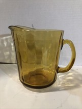 "Vintage Amber Glass Pitcher 6.5"" - $9.89"
