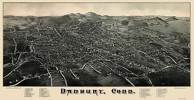 Danbury Connecticut - Burleigh 1884 - 23.00 x 44.68 - $36.58 - $94.00