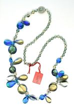 Necklace Antica Murrina Venezia with Murano Glass Lapilli Blue Gray CO692A07 image 4